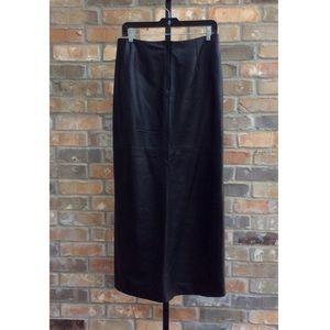 Bebe Black Leather Maxi Skirt Size 8